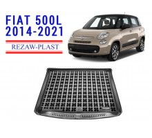 All Weather Rubber Trunk Mat For FIAT 500L 2014-2021 Black