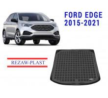 Rezaw-Plast Rubber Trunk Mat for Ford Edge 2015-2021 Black