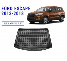 All Weather Rubber Trunk Mat For FORD ESCAPE 2013-2018 Black