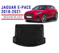 Rezaw-Plast Rubber Trunk Mat for Jaguar E-Pace 2018-2021 Black
