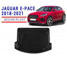 All Weather Rubber Trunk Mat For JAGUAR E-PACE 2018-2021 Black