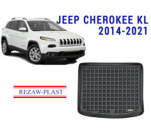 All Weather Rubber Trunk Mat For JEEP CHEROKEE KL 2014-2021 Black