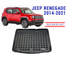 All Weather Rubber Trunk Mat For JEEP RENEGADE 2014-2021 Black