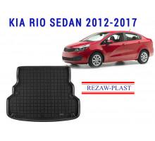 Rezaw-Plast  Rubber Trunk Mat for Kia Rio Sedan 2012-2017 Black