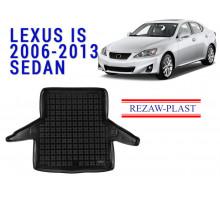All Weather Rubber Trunk Mat For LEXUS IS 2006-2013 SEDAN Black