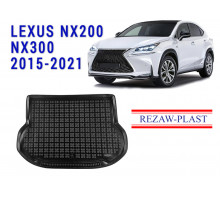 All Weather Rubber Trunk Mat For LEXUS NX200 NX300 2015-2021 Black