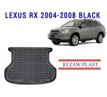 All Weather Rubber Trunk Mat For LEXUS RX 2004-2008 Black