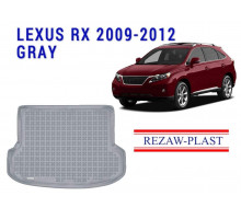 All Weather Rubber Trunk Mat For LEXUS RX 2009-2012 Gray