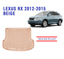 All Weather Rubber Trunk Mat For LEXUS RX 2012-2015 Beige