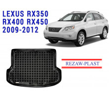 All Weather Rubber Trunk Mat For LEXUS RX350 RX400 RX450 2009-2012 Black