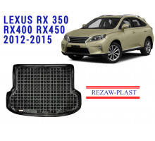 All Weather Rubber Trunk Mat For LEXUS RX350 RX400 RX450 2012-2015 Black