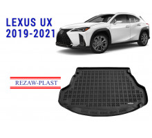 All Weather Rubber Trunk Mat For LEXUS UX 2019-2021 Black