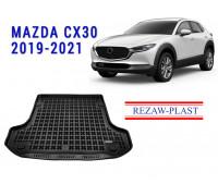 Rezaw-Plast Rubber Trunk Mat for Mazda CX30 2019-2021 Black