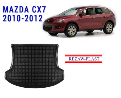Rezaw-Plast Rubber Trunk Mat for Mazda CX7 2010-2012 Black