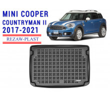 All Weather Rubber Trunk Mat For MINI COOPER COUNTRYMAN II 2017-2021 Black