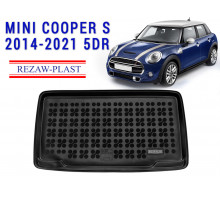 All Weather Rubber Trunk Mat For MINI COOPER S 2014-2021 5DR Black