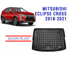 All Weather Rubber Trunk Mat For MITSUBISHI ECLIPSE CROSS 2018-2021 Black