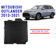 All Weather Rubber Trunk Mat For MITSUBISHI OUTLANDER 2013-2021 Black