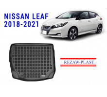 All Weather Rubber Trunk Mat For NISSAN LEAF 2018-2021 Black