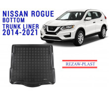 All Weather Rubber Trunk Mat For NISSAN ROGUE 2014-2021 Black