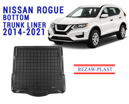 Rezaw-Plast Rubber Trunk Mat for Nissan Rogue 2014-2021 Black