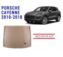 All Weather Rubber Trunk Mat For PORSCHE CAYENNE 2010-2018 Beige