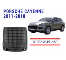 All Weather Rubber Trunk Mat For PORSCHE CAYENNE 2011-2018 Black