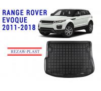 Rezaw-Plast Rubber Trunk Mat for Range Rover Evoque 2011-2018 Black