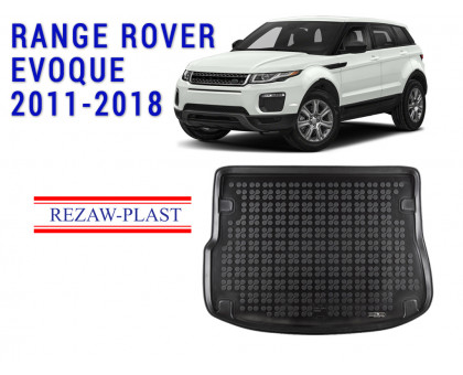 All Weather Rubber Trunk Mat For RANGE ROVER EVOQUE 2011-2018 Black