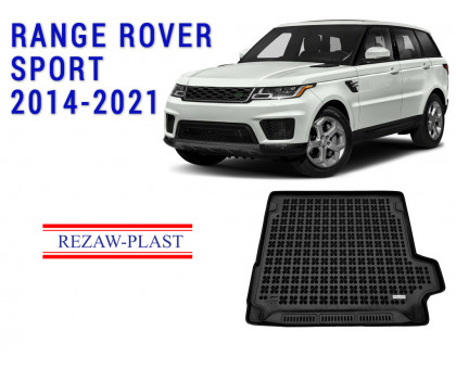 All Weather Rubber Trunk Mat For RANGE ROVER SPORT 2014-2021 Black