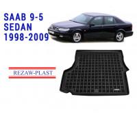 All Weather Rubber Trunk Mat For SAAB 9-5 SEDAN 1998-2009 Black