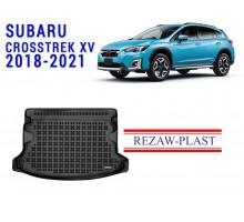 All Weather Rubber Trunk Mat For SUBARU CROSSTREK XV 2018-2021 Black