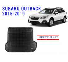 All Weather Rubber Trunk Mat For SUBARU OUTBACK 2015-2019 Black