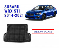 All Weather Rubber Trunk Mat For SUBARU WRX STI 2014-2021 Black