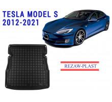 Rezaw-Plast Rubber Trunk Mat for Tesla Model S 2012-2021 Black