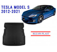 All Weather Rubber Trunk Mat For TESLA MODEL S 2012-2021 Black