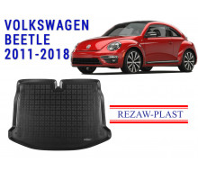 All Weather Rubber Trunk Mat For VOLKSWAGEN BEETLE 2011-2018 Black