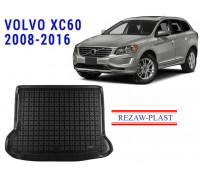 Rezaw-Plast Rubber Trunk Mat for Volvo XC60 2008-2016 Black