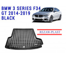 Rezaw-Plast  Rubber Trunk Mat for BMW 3 Series F34 GT 2014-2019 Black