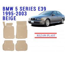 Rezaw-Plast  Rubber Floor Mats Set for BMW 5 Series E39 Beige
