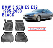 Rezaw-Plast  Rubber Floor Mats Set for BMW 5 Series E39 Black