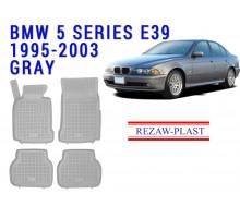 Rezaw-Plast  Rubber Floor Mats Set for BMW 5 Series E39 Gray