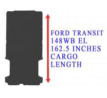Rezaw Plast Flat rubber cargo mat for Ford Transit 148WB Black 2014-2022