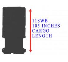 Rezaw Plast Flat rubber cargo mat for Dodge Ram Promaster 118WB Black 2014-2022