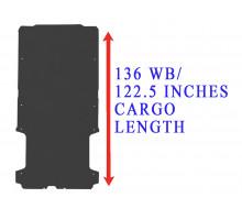 Rezaw Plast Flat rubber cargo mat for Dodge Ram Promaster 136WB Black 2014-2022