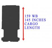 Rezaw Plast Flat rubber cargo mat for Dodge Ram Promaster 159WB Black 2014-2022