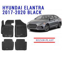 Rezaw-Plast  Rubber Floor Mats Set for Hyundai Elantra 2017-2020 Black