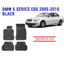 Rezaw-Plast  Rubber Floor Mats Set for BMW 5 Series E60 2005-2010 Black