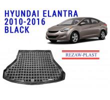 Rezaw-Plast  Rubber Trunk Mat for Hyundai Elantra 2010-2016 Black