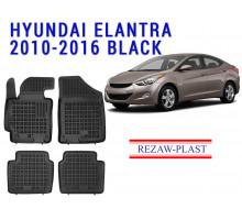 Rezaw-Plast  Rubber Floor Mats Set for Hyundai Elantra 2010-2016 Black